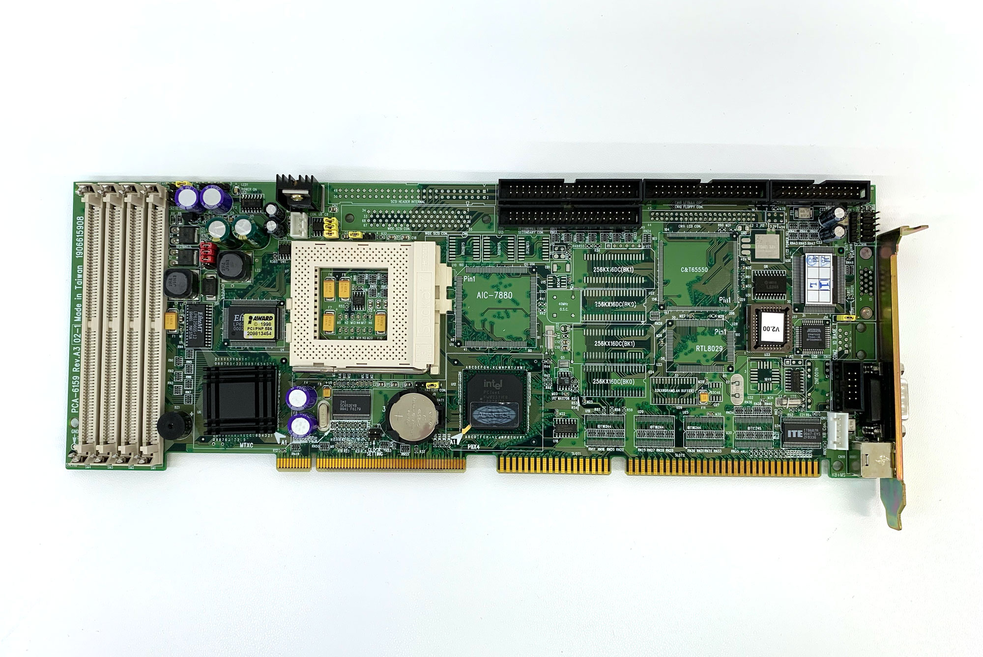 PCA-6159L - Sockel 7 CPU Board mit  VGA LCD/LAN/SCSI